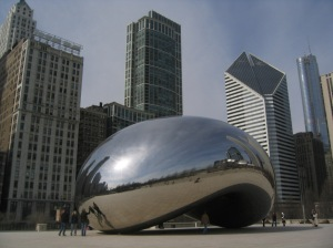 The iconic Chicago bean