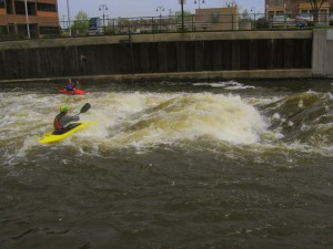 Take the time to learn some basic skills, and you can surf the rapids with the ERWWKC.