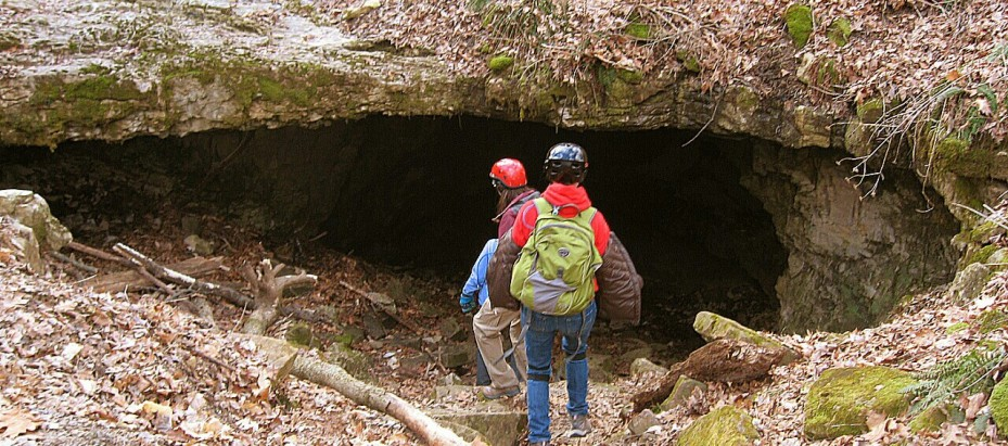 Descending into the Earth at Buckner's Cave