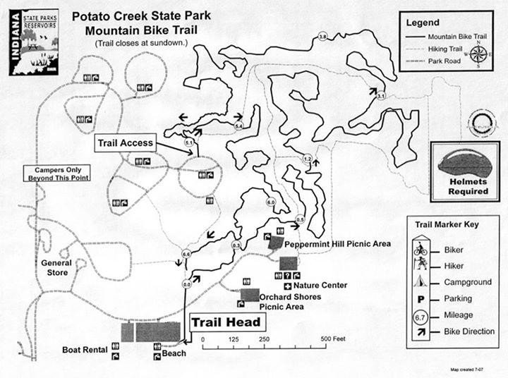 Mountain Bike Potato Creek State Park Outside The Bend: Potato Creek State Park Map At Usa Maps